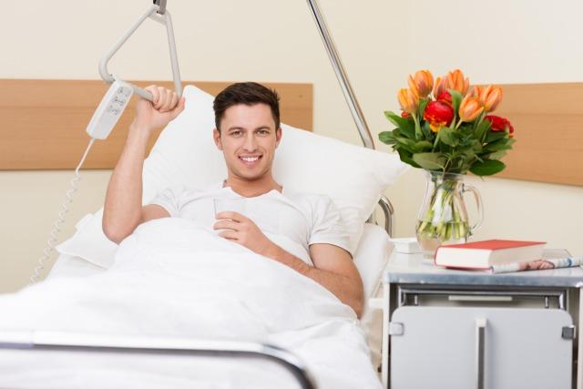 入院しちゃった彼