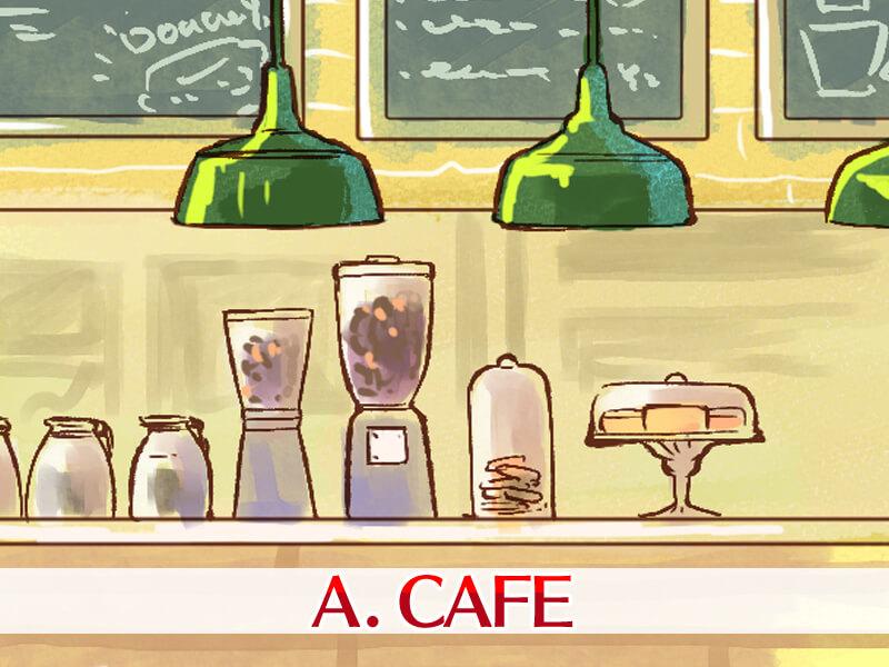 初デートは人気のカフェ