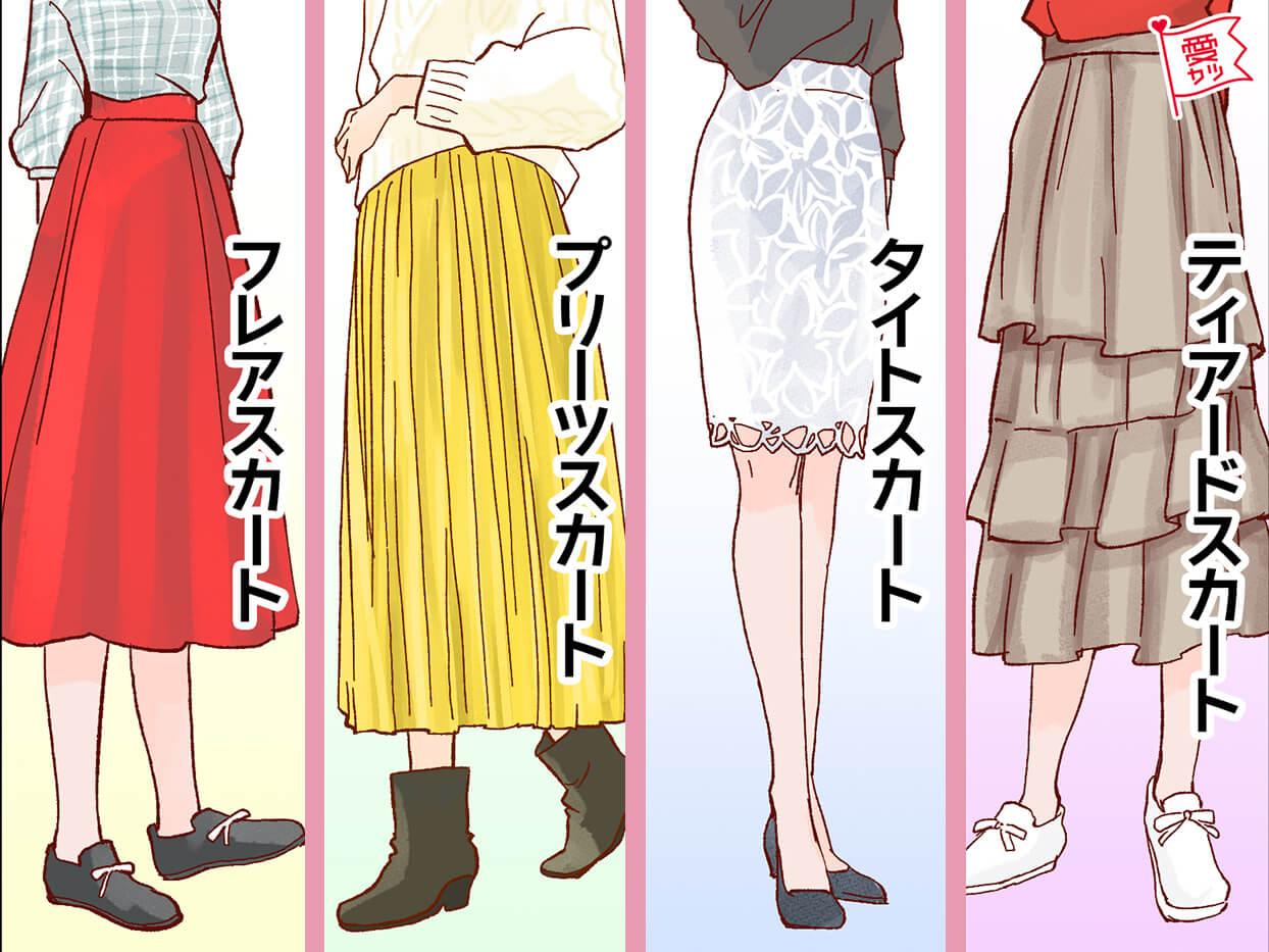 スカートでわかる