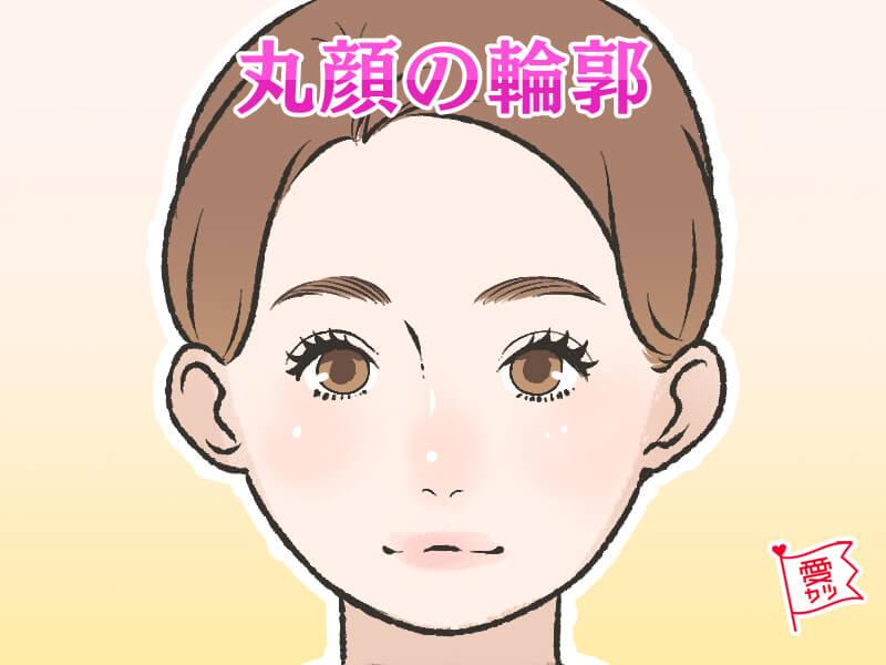丸顔の輪郭