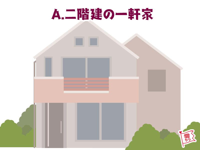 A:「2階建ての普通の一軒家」を選んだあなた