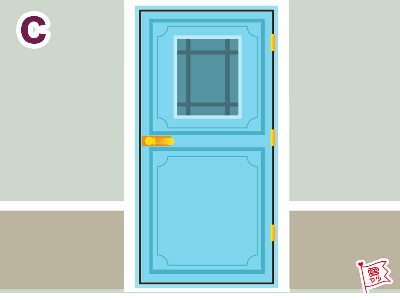 C:「水色のシックな扉」を選んだあな
