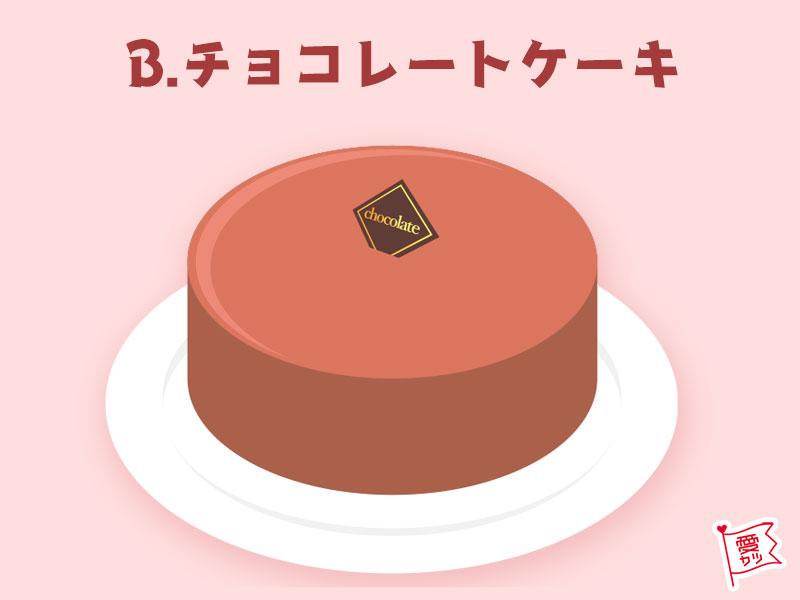 B:「チョコレートケーキ」を選んだあなた
